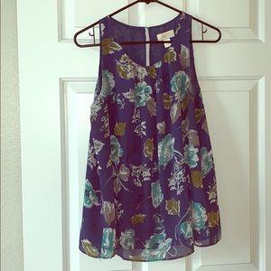 Loft dress shirt floral